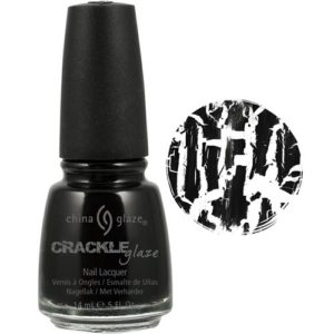 china glaze crackle nail lacquer black mesh