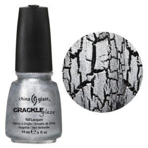 china glaze crackle nail lacquer platinum pieces silver