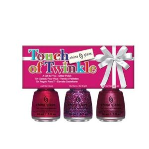 china glaze happy holiglaze nail polish mini gift set touch of twinkle