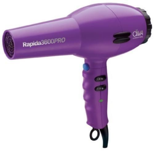 diva professional styling rapida 3600 purple hair dryer