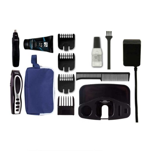 wahl rechargeable beard stubble ear nose trimmer gift set black 1