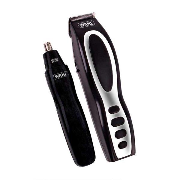 wahl rechargeable beard stubble ear nose trimmer gift set black