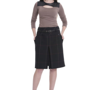 guzella tube yarn dyed fabric plaid skirt
