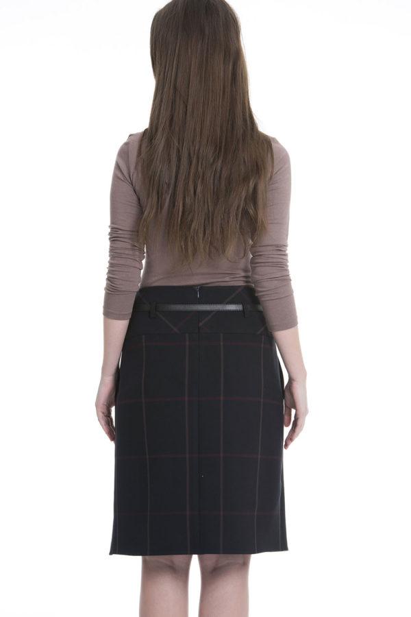 guzella plaid skirt