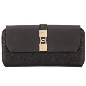 fiorelli evie black large flapover purse