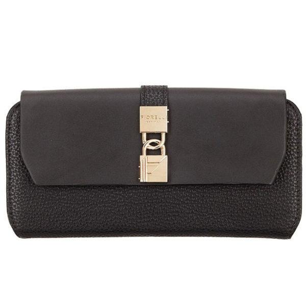 fiorelli evie black large flapover purse