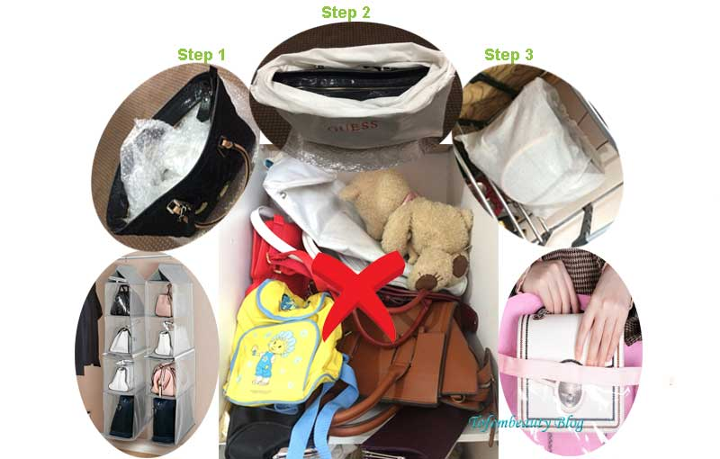 How to store handbags