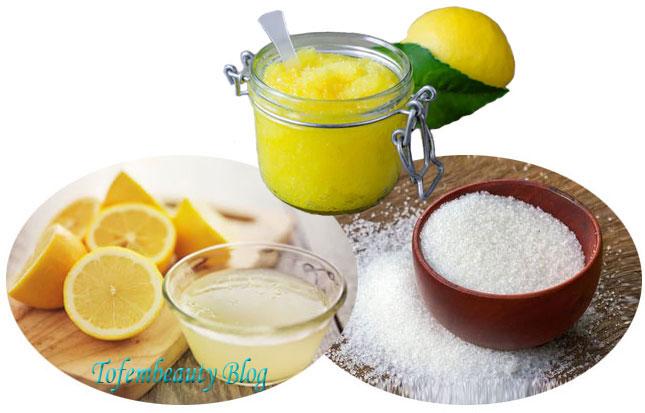 Lemons Sugars Scrubs