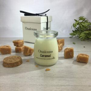 onaiouss caramel soy wax candle